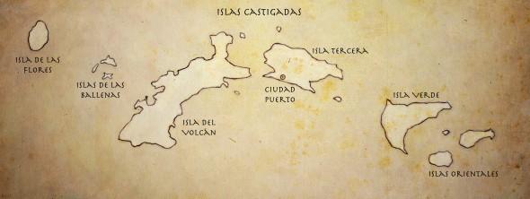 Mapa de Islas Castigadas
